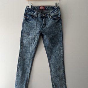Superdry Acid Wash Skinny Jeans Blue Size Medium